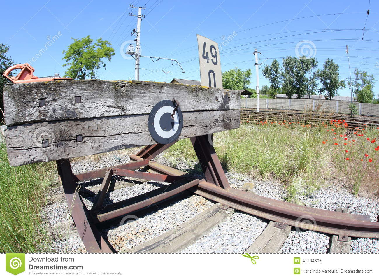 Railroad Buffer Stop Stock Photos, Images, & Pictures.