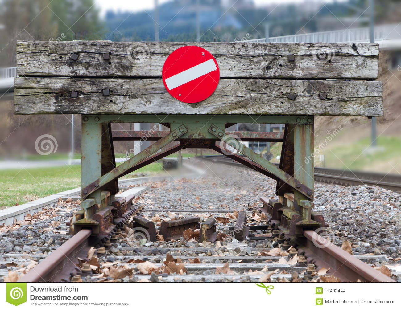 Wooden Buffer Stop Concept Stock Images.