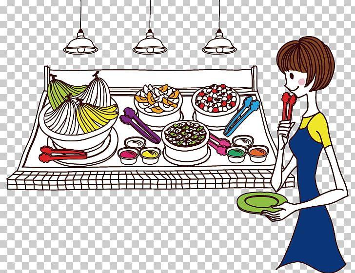 Buffet Cartoon Barbecue PNG, Clipart, Art, Baby Girl, Balloon.