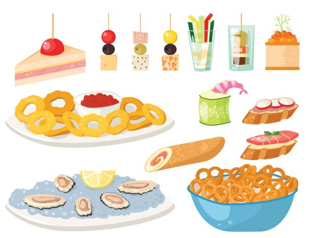 Best Buffet Table Illustrations, Royalty.