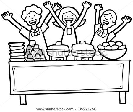 Free clipart buffet food.