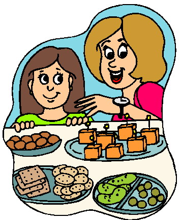 Dinner Buffet Clipart.