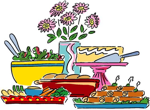 Buffet Lunch Clipart.