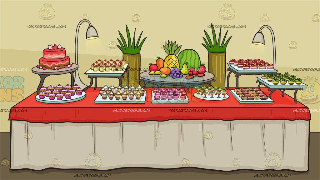 Dessert Buffet Clipart.