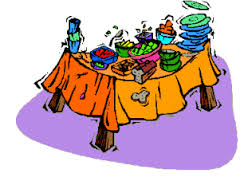 Free clipart buffet table.