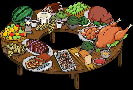 Buffet Table Clipart.