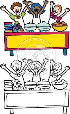 Clip art: Buffet Table.