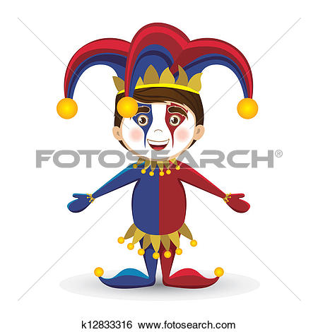 Clipart of April Fool's Day k12833340.