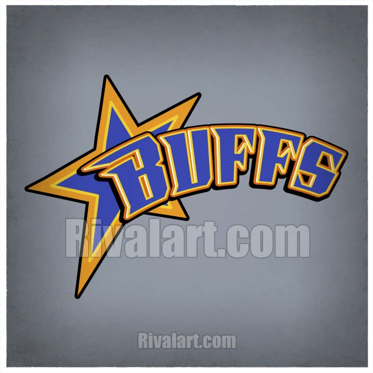 Star Clipart with Buffs Text.