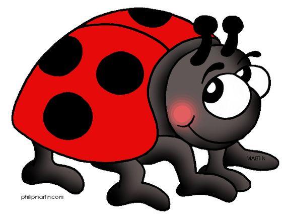Lady bug art with ladybugs clipart.