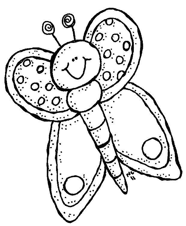 Bug Eye Smile Black And White Clipart.