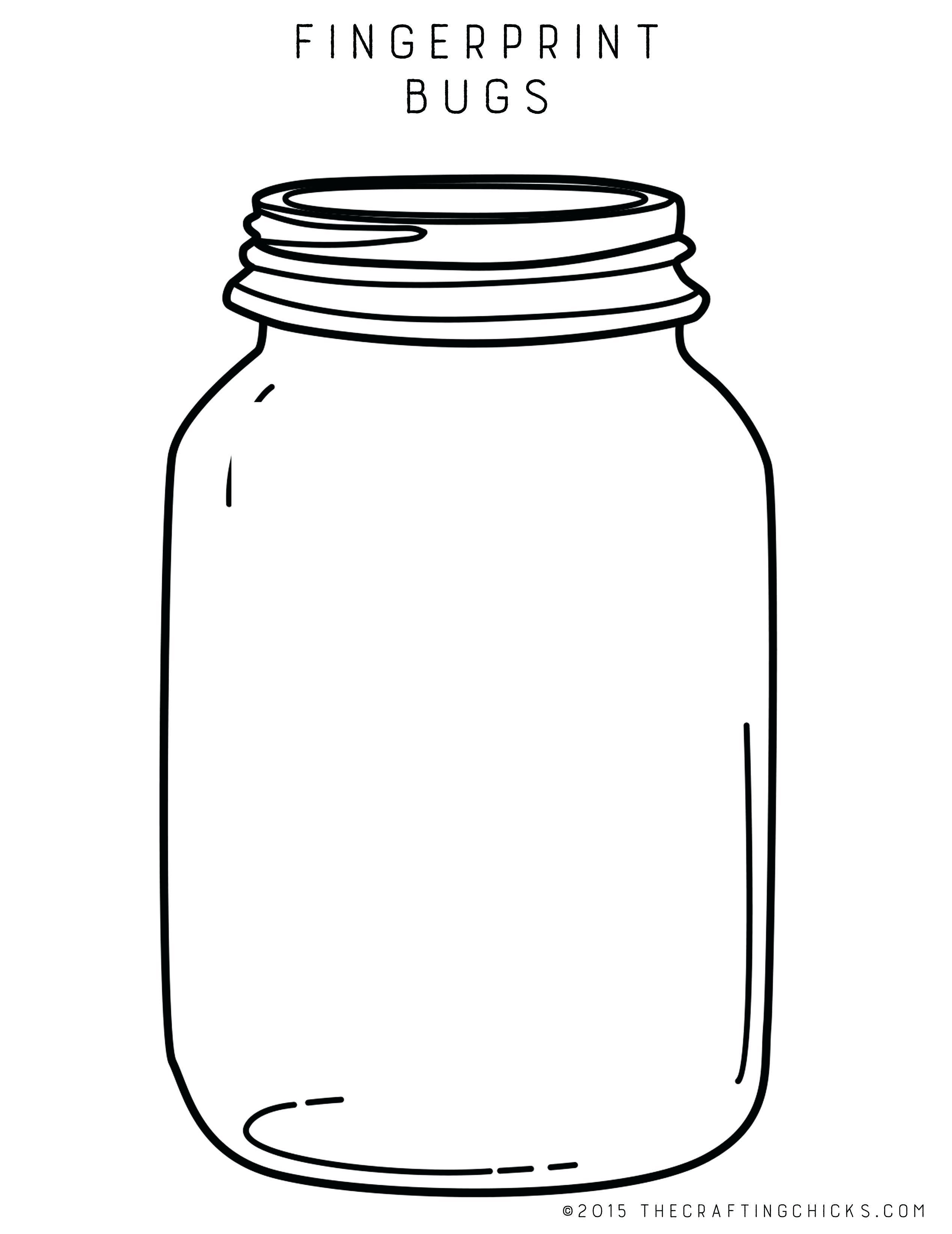 jar coloring page.
