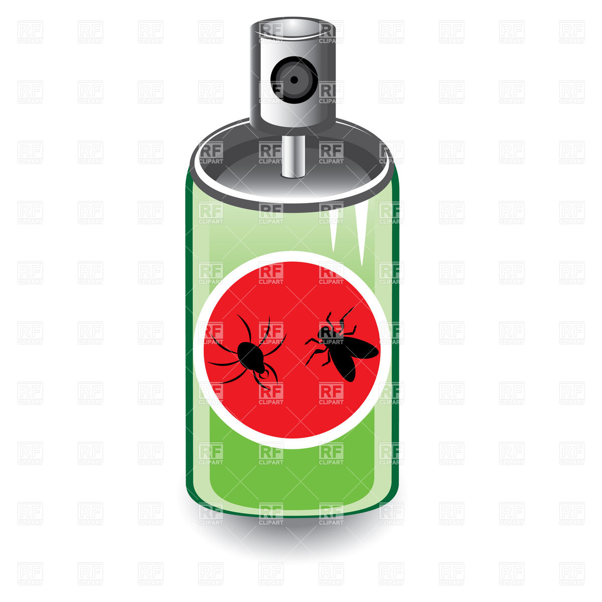 Insect or bug spray Stock Vector Image.
