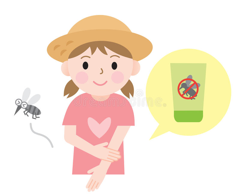 Insect Repellent Stock Illustrations.