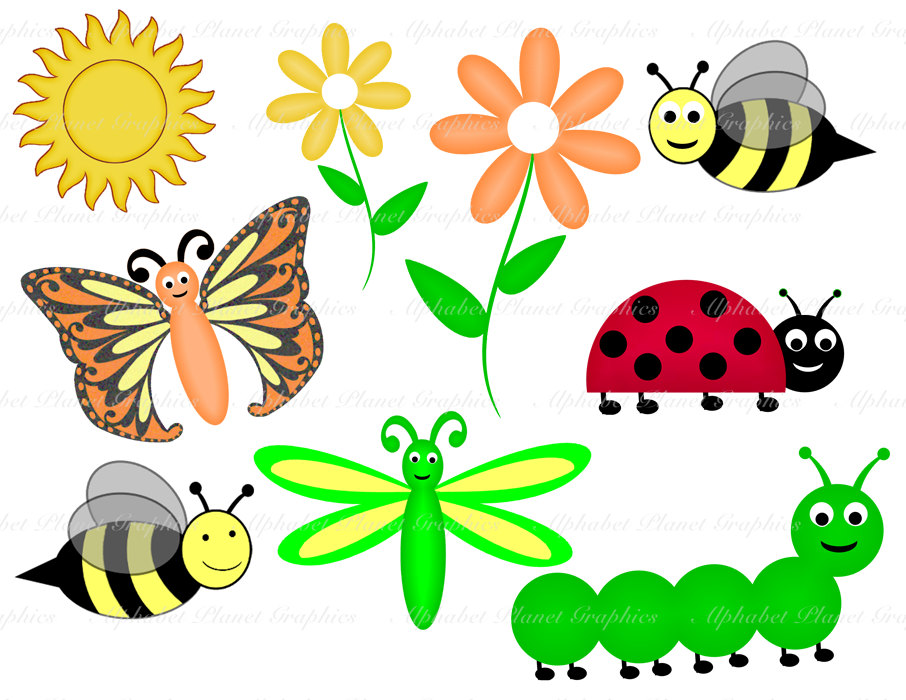 Bugs clipart.