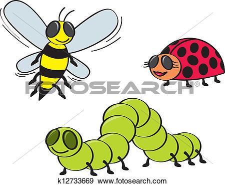Clip Art of funny lady bug cartoon xmas k14611317.