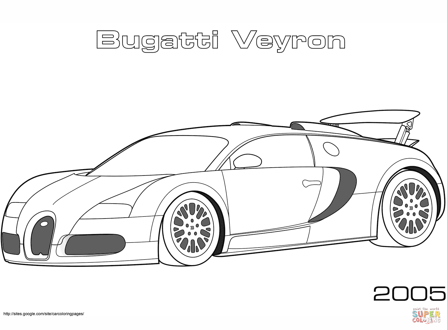 2005 Bugatti Veyron coloring page.