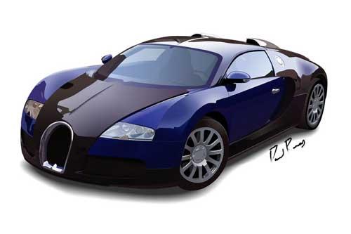 Bugatti veyron clip art.