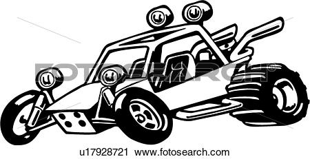 Clipart of , buggy, cartoon, dune buggy, sport, wacky, action.