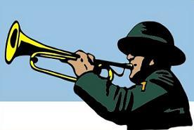 Free Bugle Clipart.