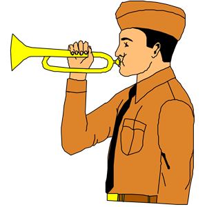BUGLE clipart, cliparts of BUGLE free download (wmf, eps, emf, svg.