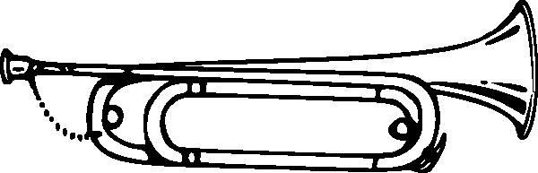 Bugle clip art Free Vector / 4Vector.