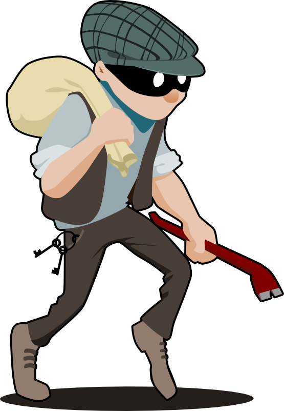Free to Use & Public Domain Burglar Clip Art.
