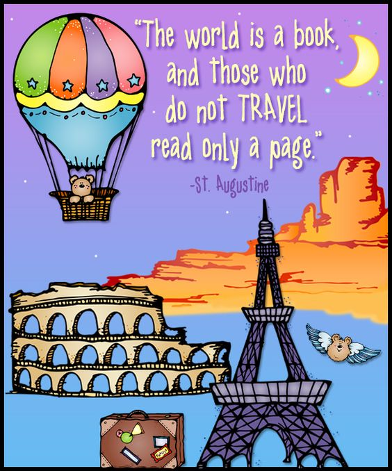 travel, world clip art, travel quotes, cute clip art, the world is.