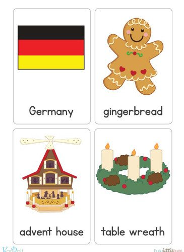 Christmas Around the World Flash Cards.