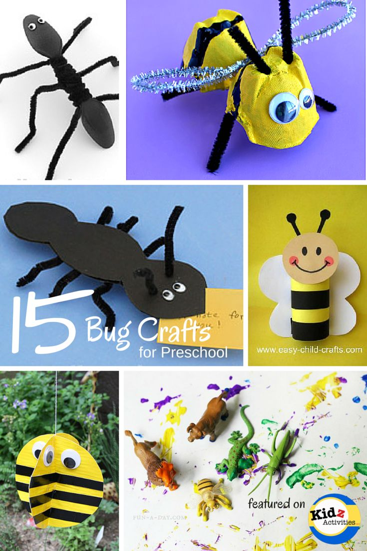 Bug Crafts for Preschool.