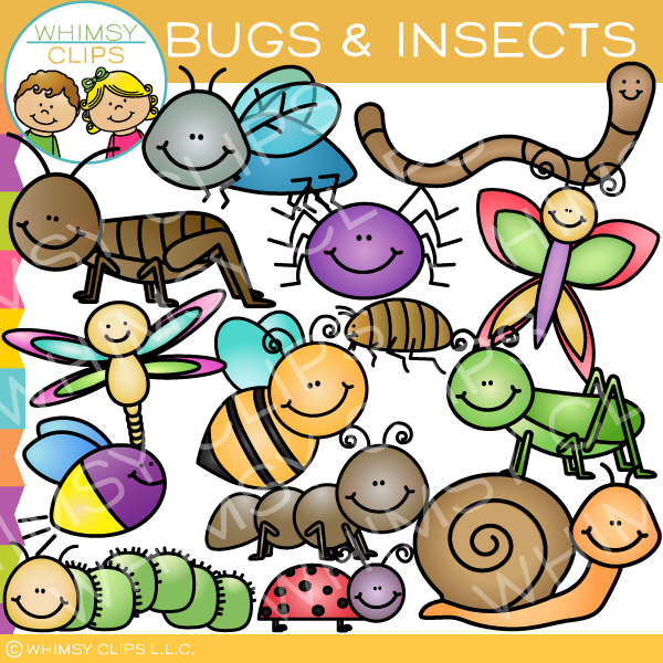 Insects and Bugs Clip Art.