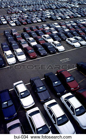Stock Photo of Cars for Export and Distribution bui.