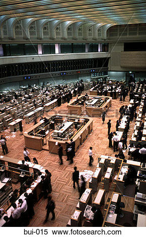 Stock Image of Tokyo Stock Exchange Japan bui.