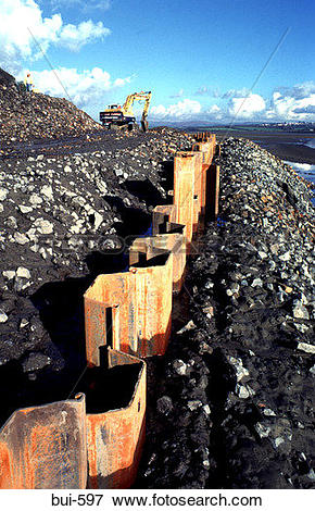 Picture of Steel Girder River Bank Reinforcement bui.