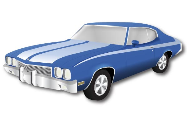 Buick skylark convertible car clipart.
