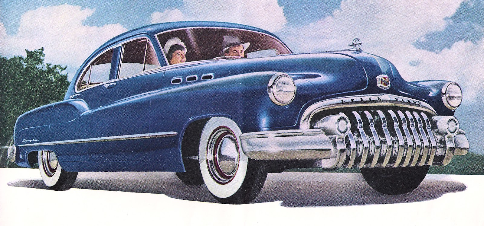 Antique Images: Vintage Car Clip Art: 1950 Buick Dark Blue from.