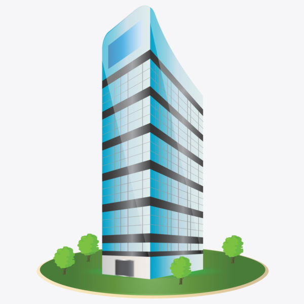 Corporate Building Clipart.