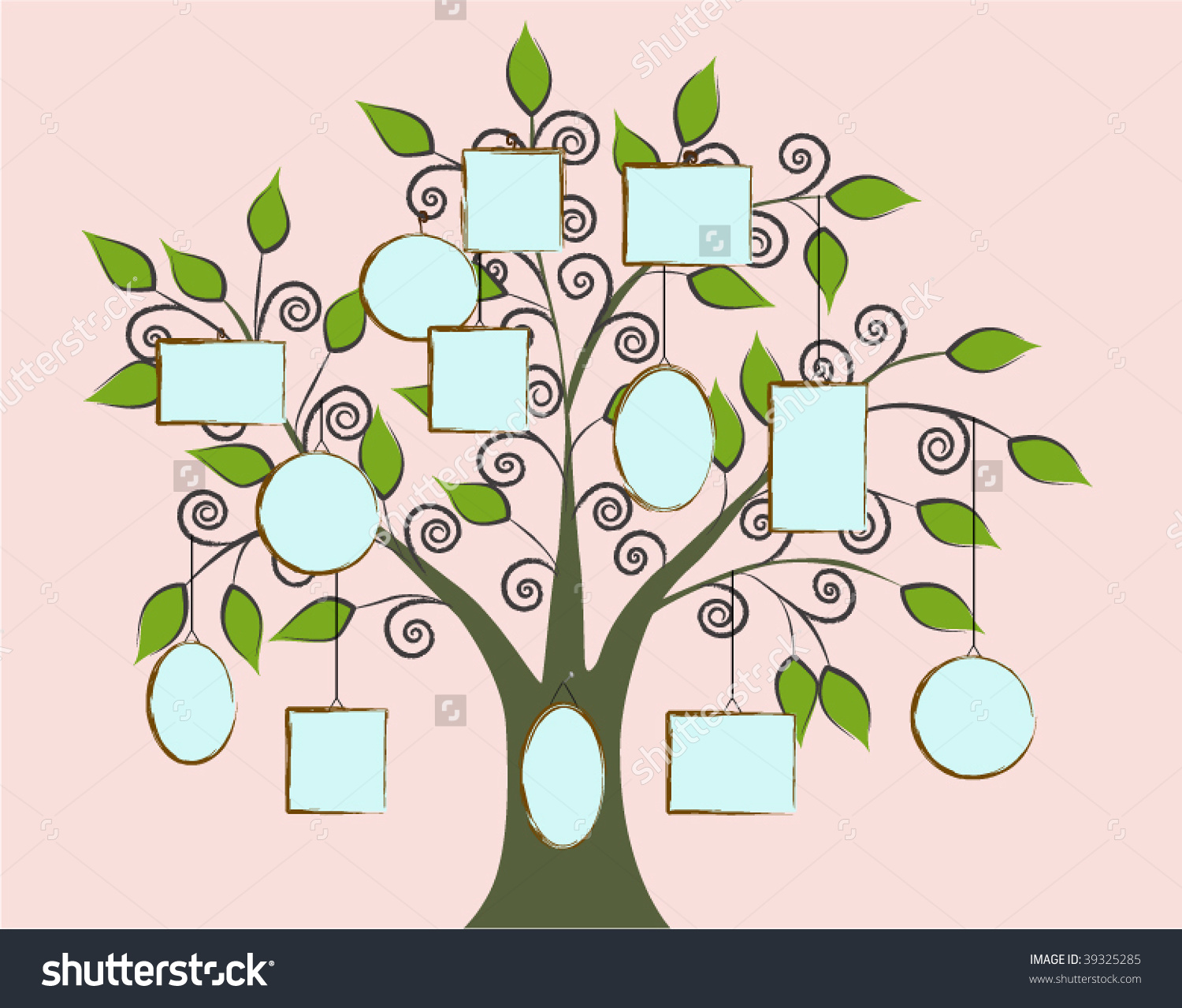 Build Your Family Tree Stock Vector Illustration 39325285.