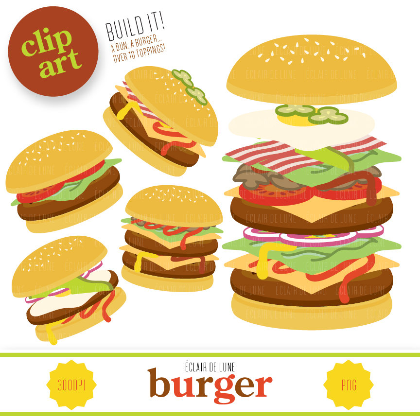 Build A Burger Clipart.