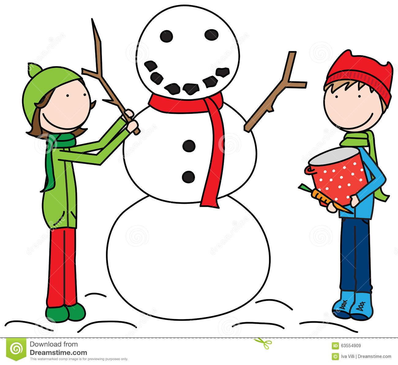 Build A Snowman Clipart.
