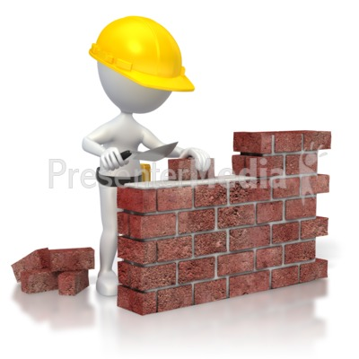 Construction of the wall clipart #2