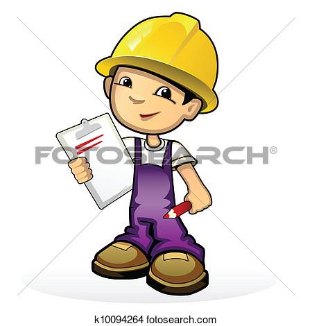 Builder clipart kid.