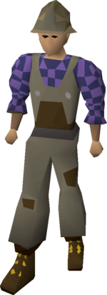 Builder's outfit.
