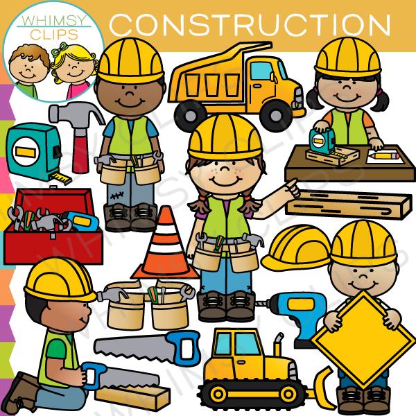 Kids Construction Clip Art.