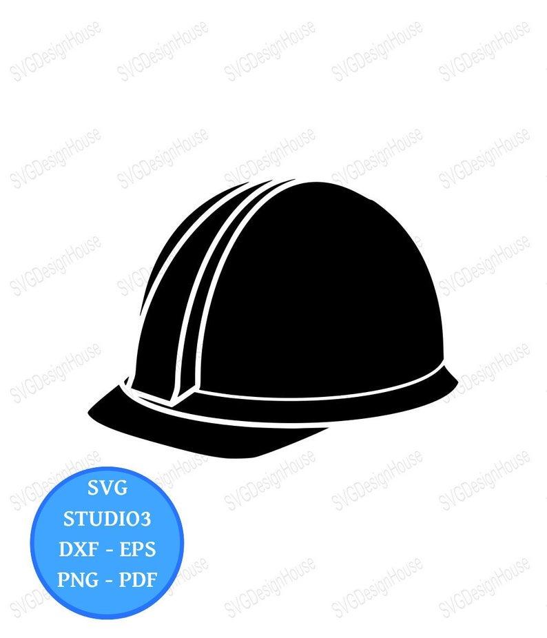 Construction Hat SVG, Hard Hat Svg, Builders Hat Svg, Construction Hat  Clipart, Dxf, Png, Eps, cricut, Studio3, Cricut, Silhouette.