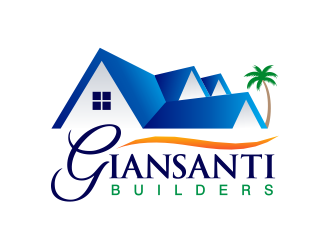 Giansanti Builders logo design.