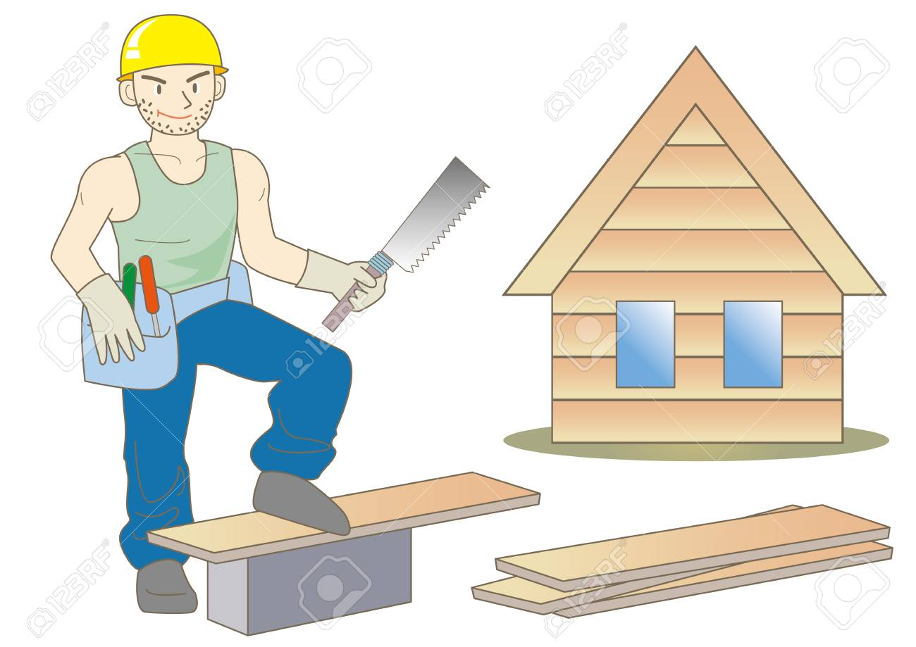 carpenter build a house.