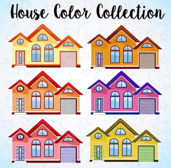 Buildings clipart, House clipart, Building clipart, City Clipart, Colorful  clipart, City Silhouette, Svg, Png, Eps Vectors, city clip art.