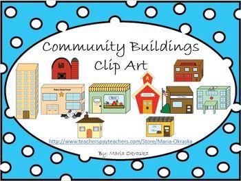 Community Buildings Clipart.