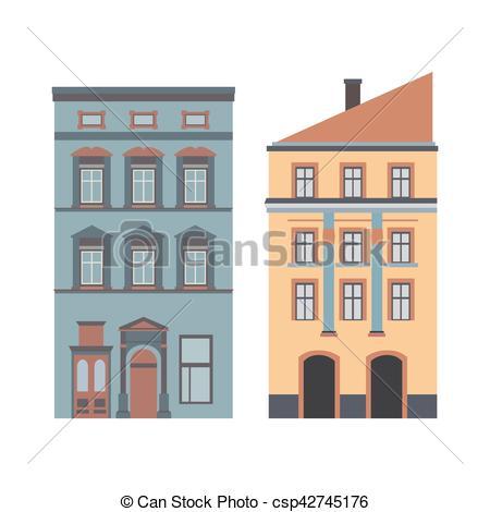 Vectors Illustration of Beautiful detailed cartoon cityscape.